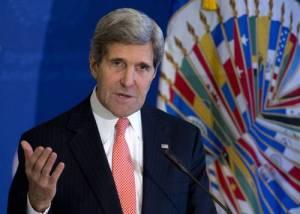 John Kerry, secretario estadunidense de Estado, pronunció ayer un discurso sobre la política de Washington hacia América Latina, en la sede de la OEA, en Washington